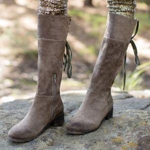 Joyfolie Charcoal Knee High Boot
